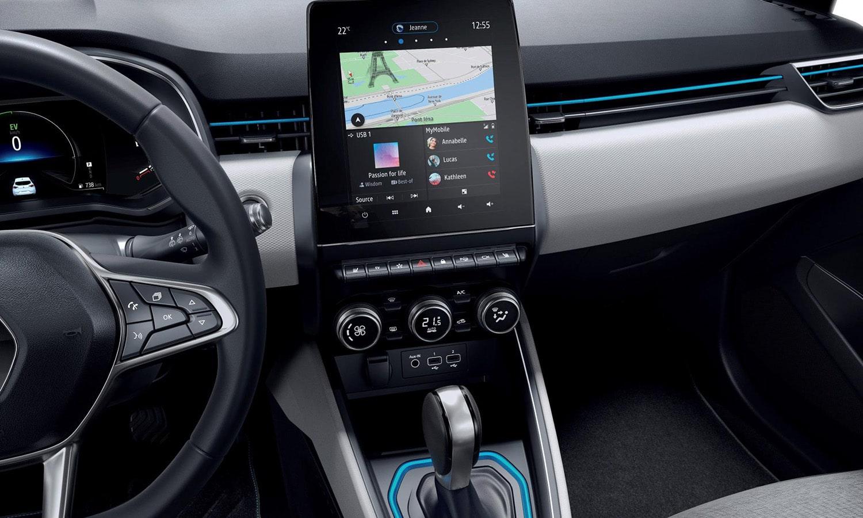 Interior del Renault Clio E-Tech
