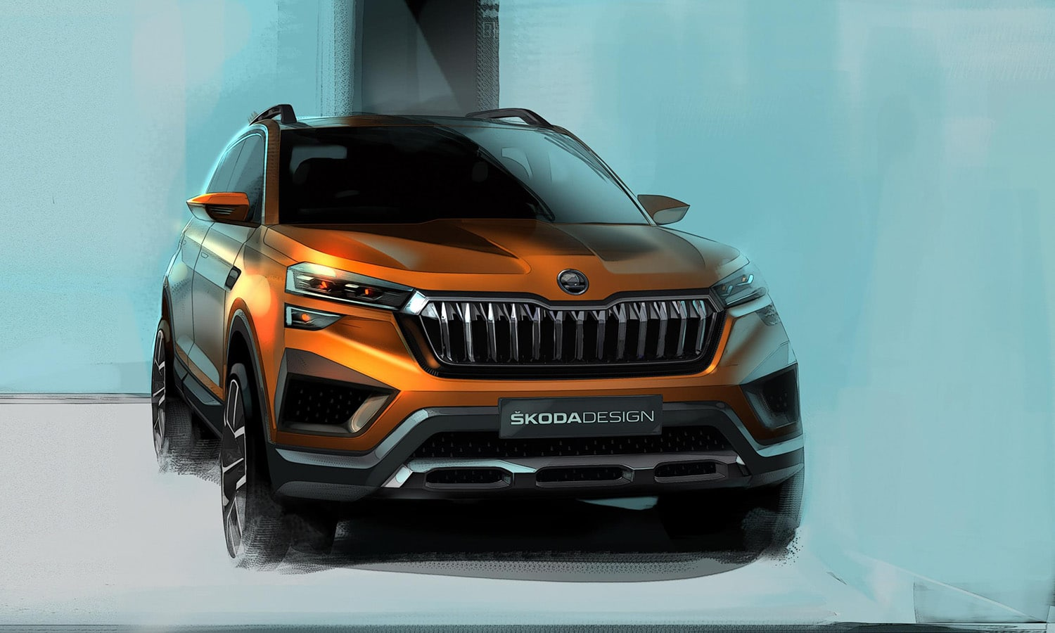 Skoda Vision In prototipo para la India frontal