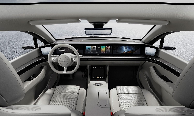 Interior del coche eléctrico de Sony