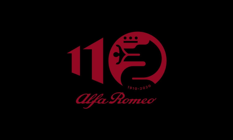 Alfa Romeo 110 Anniversary black logo