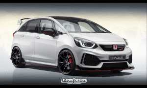 Honda Jazz Type R rendering by X-Tomi Design