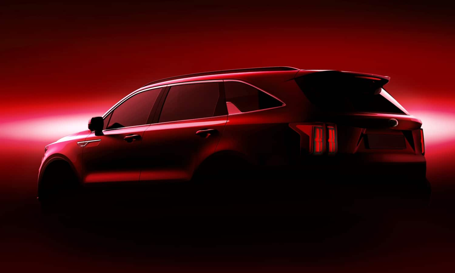 Kia Sorento 2020 Geneva International Motor Show rear teaser