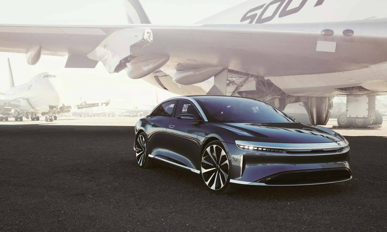 Lucid Air EV front