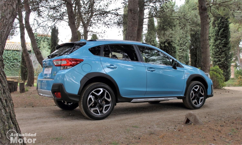Prueba Subaru XV EcoHybrid perfil trasero