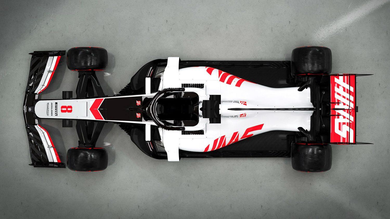 Vista desde arriba Haas VF20 F1 2020