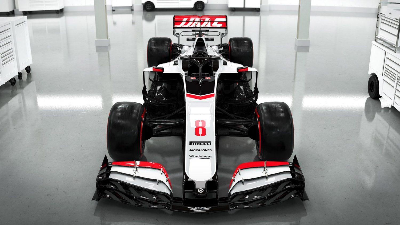 Vista frontal Haas VF20 F1 2020
