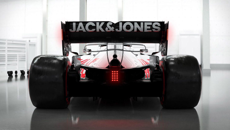 Vista trasera Haas VF20 F1 2020