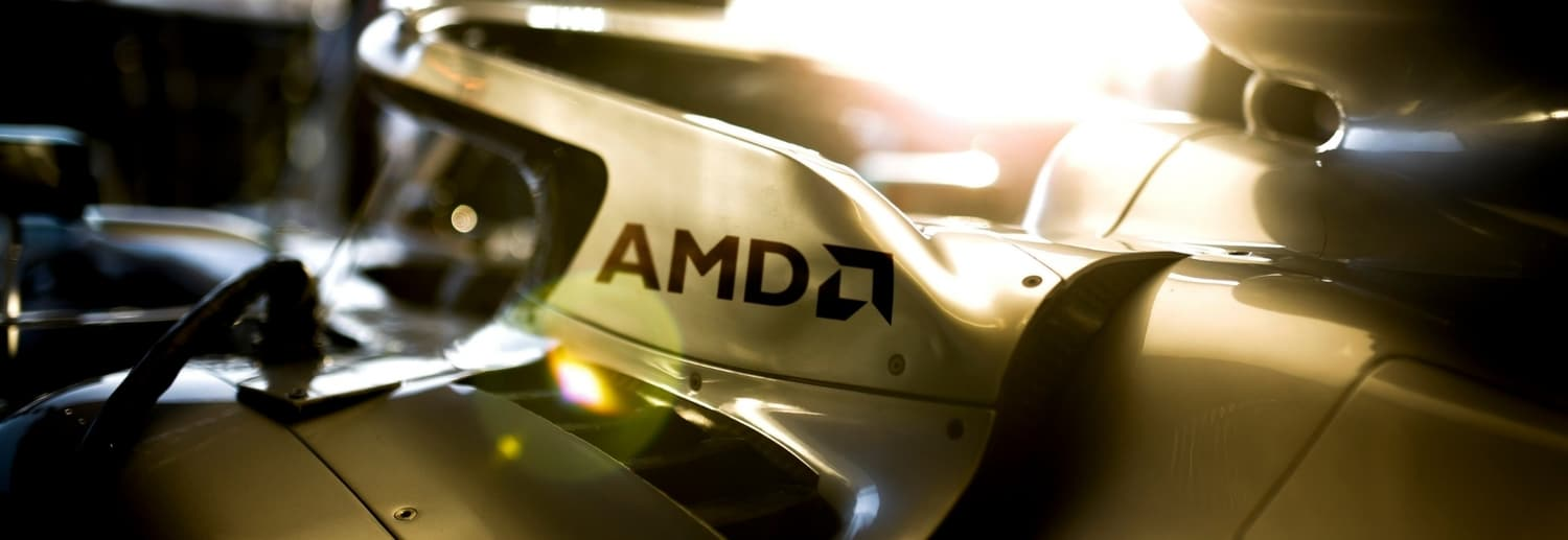 Mercedes F1 AMD logo