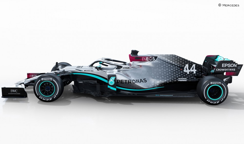 Mercedes W11 lateral