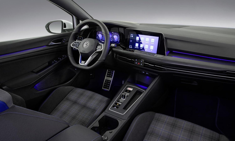 Diseño interior azul Volkswagen Golf GTE