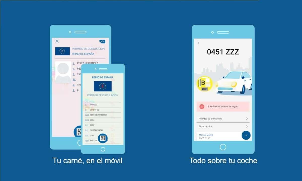 Carnet de conducir en miDGT App