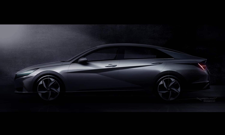 Hyundai Elantra 2021 - World Premiere Eventin Hollywood side
