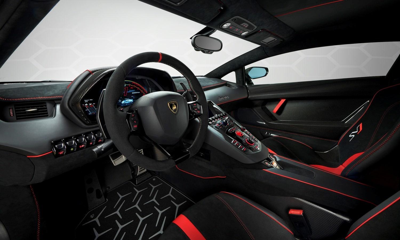 Lamborghini Aventador SVJ inside