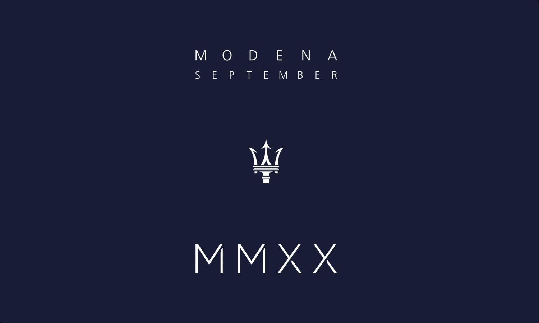 Maserati MMXX - Maserati MC20 Modena September 2020