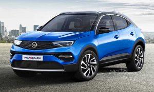 Opel Mokka X 2021 front rendering by Kolesa
