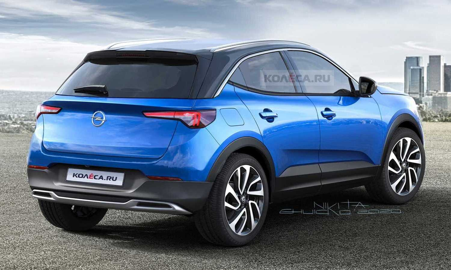 Opel Mokka X 2021 rear rendering by Kolesa