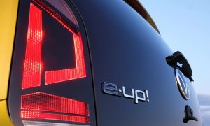 Volkswagen e-Up! rear logo