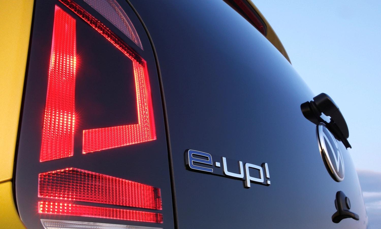 Volkswagen e-Up! rear logo