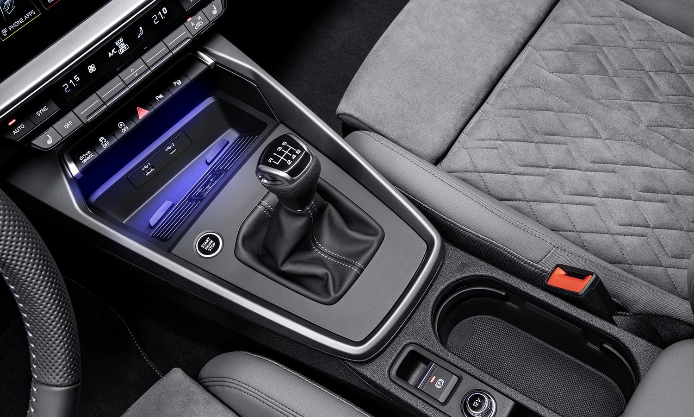 Audi A3 Sportback detalle consola central