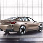 Perfil trasero del BMW i4 Concept