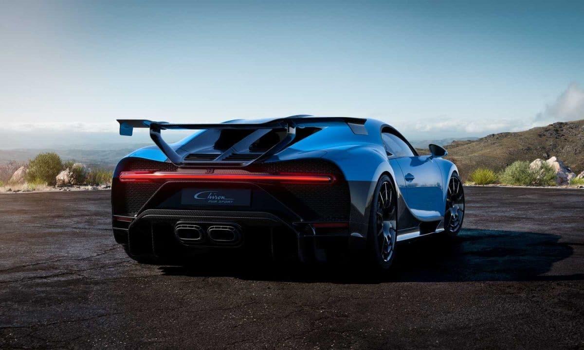 Alerón de casi dos metros de ancho del Bugatti Chiron Pur Sport