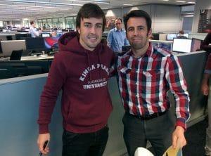 Fernando Alonso e Iván Roldán