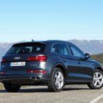 Perfil trasero del Audi Q5 PHEV 367 CV