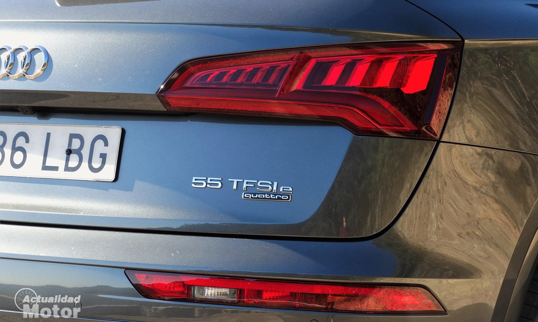 Inscripción trasera del Audi Q5 55 TFSIe