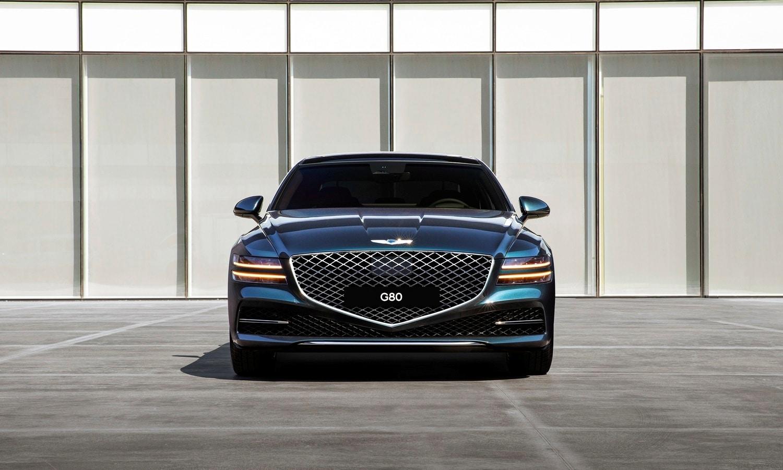 Genesis G80 2021 luxury executive sedan front