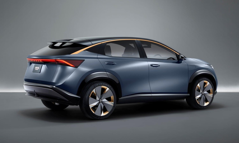 Nissan Ariya Concept 2019 side-rear