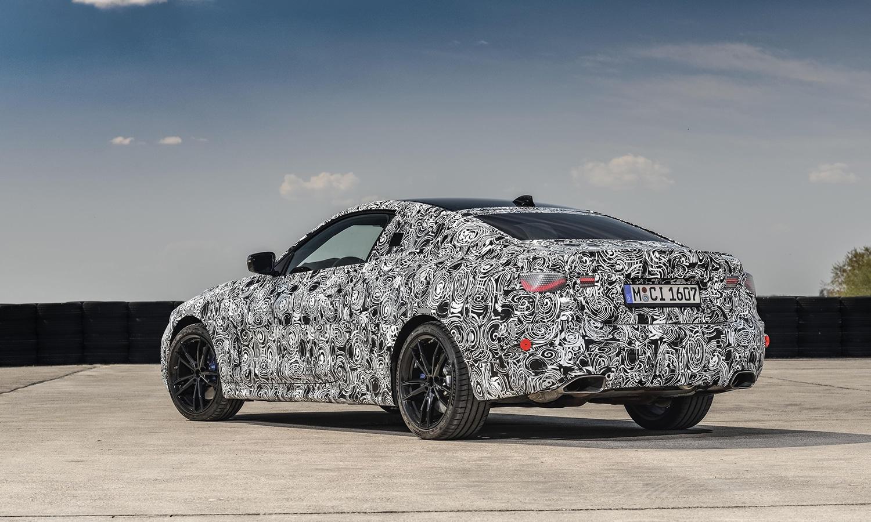 BMW Serie 4 Coupé parte trasera camuflada