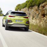 Hyundai Kona dinámica trasera