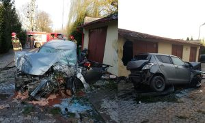 Suzuki Swift accidente rotonda