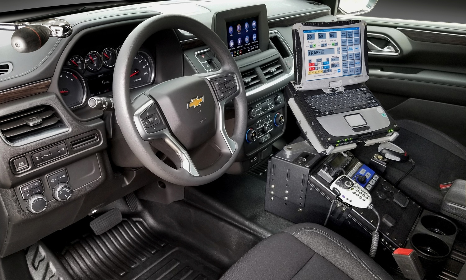 Chevrolet Tahoe Police Pursuit Vehicle (PPV) 2021 inside