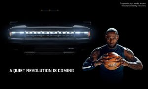 GMC HUMMER EV Quiet Revolution Grille Featuring LeBron James