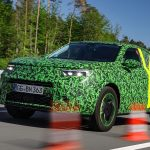 Opel Mokka test drive spy photo