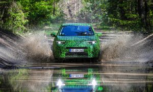 Opel Mokka test drive spy photo