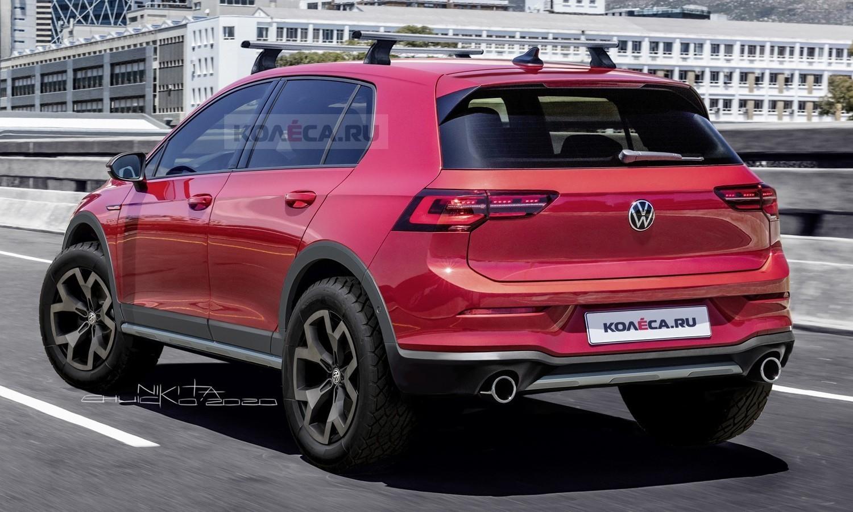 Volkswagen Golf Country 2020 render by Kolesa.ru rear