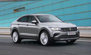 Volkswagen Tiguan Coupé rendering by Kolesa.ru front