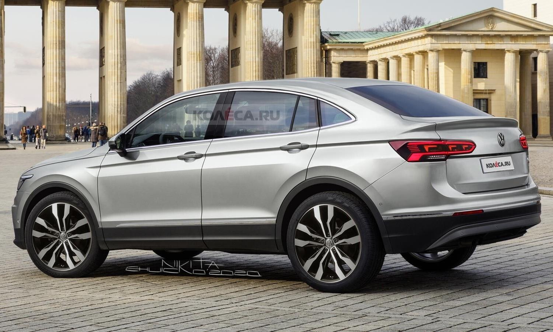 Volkswagen Tiguan Coupé rendering by Kolesa.ru rear