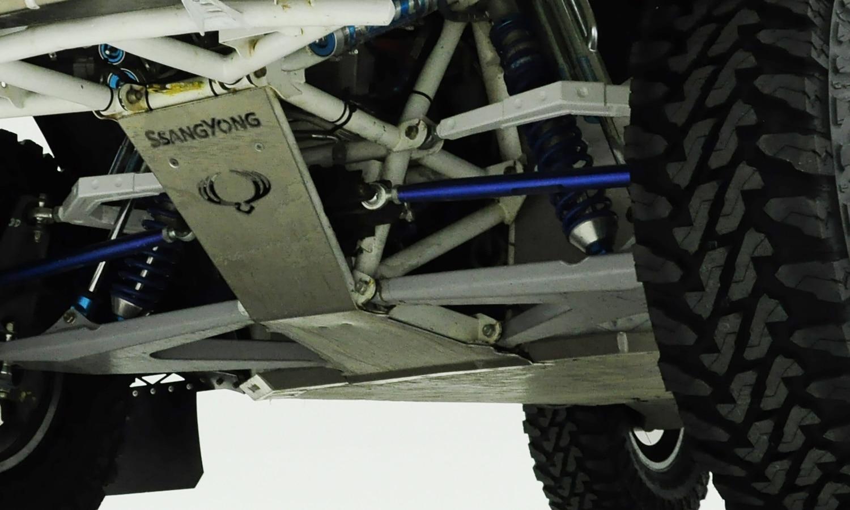 Cubre cárter metal para coche competición