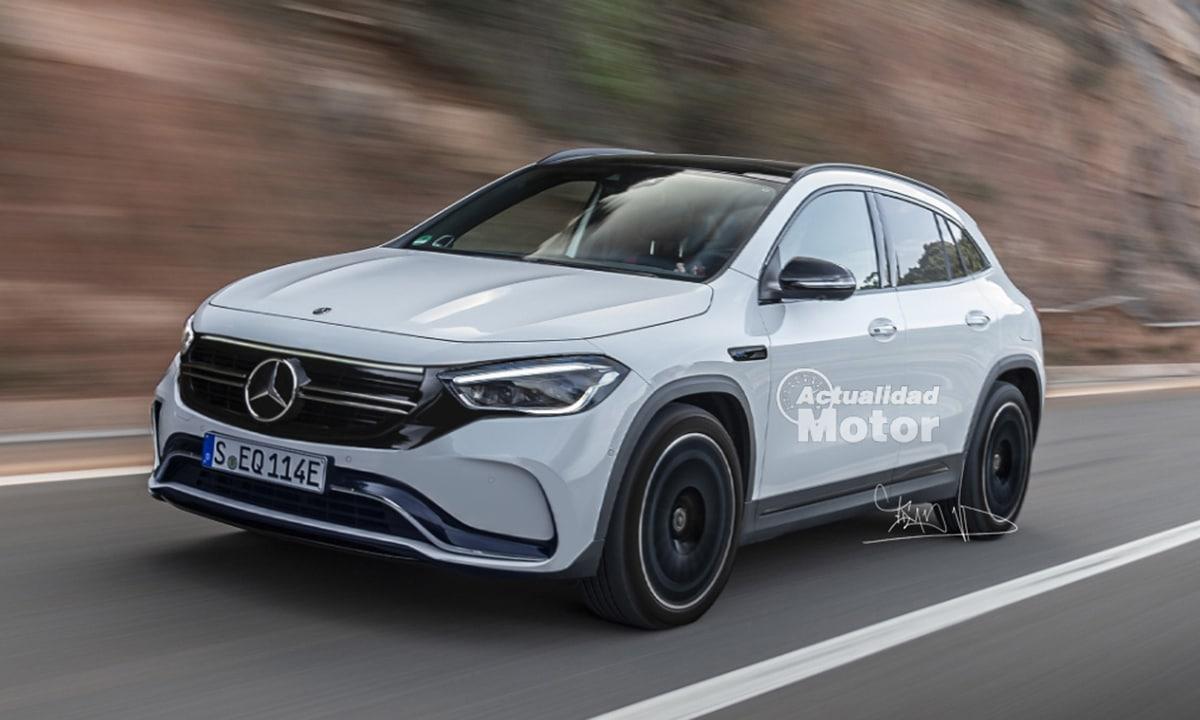 Recreación Mercedes EQA