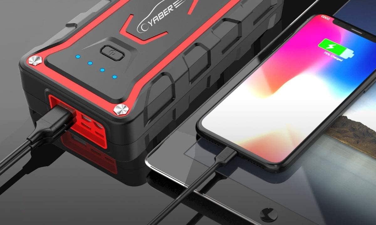 Puertos USB para arrancador de baterías de coche