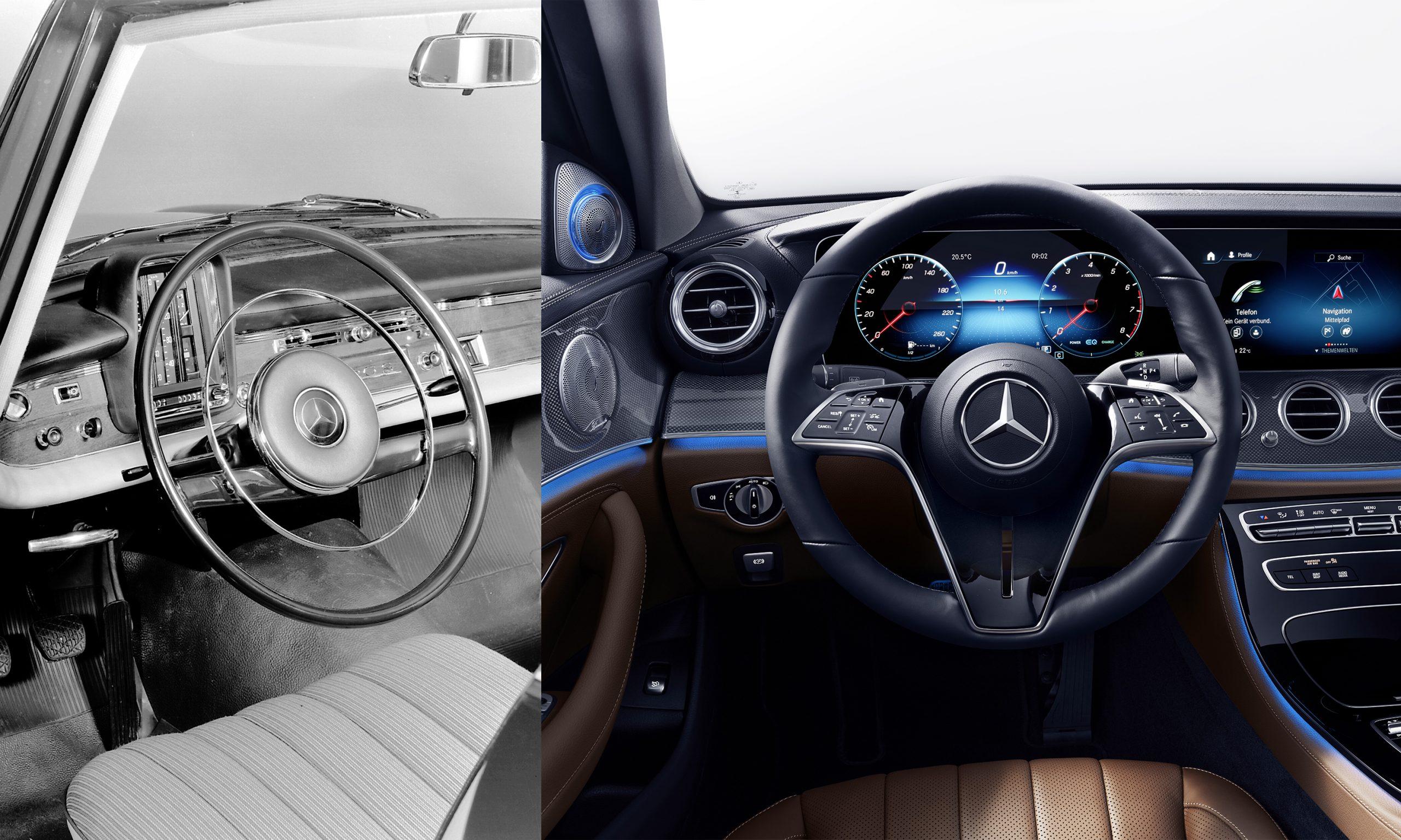 Evolución de volantes en Mercedes