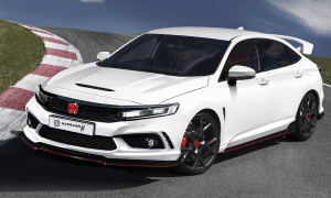 Honda Civic Type R 11º generation rendering by Avarbarii