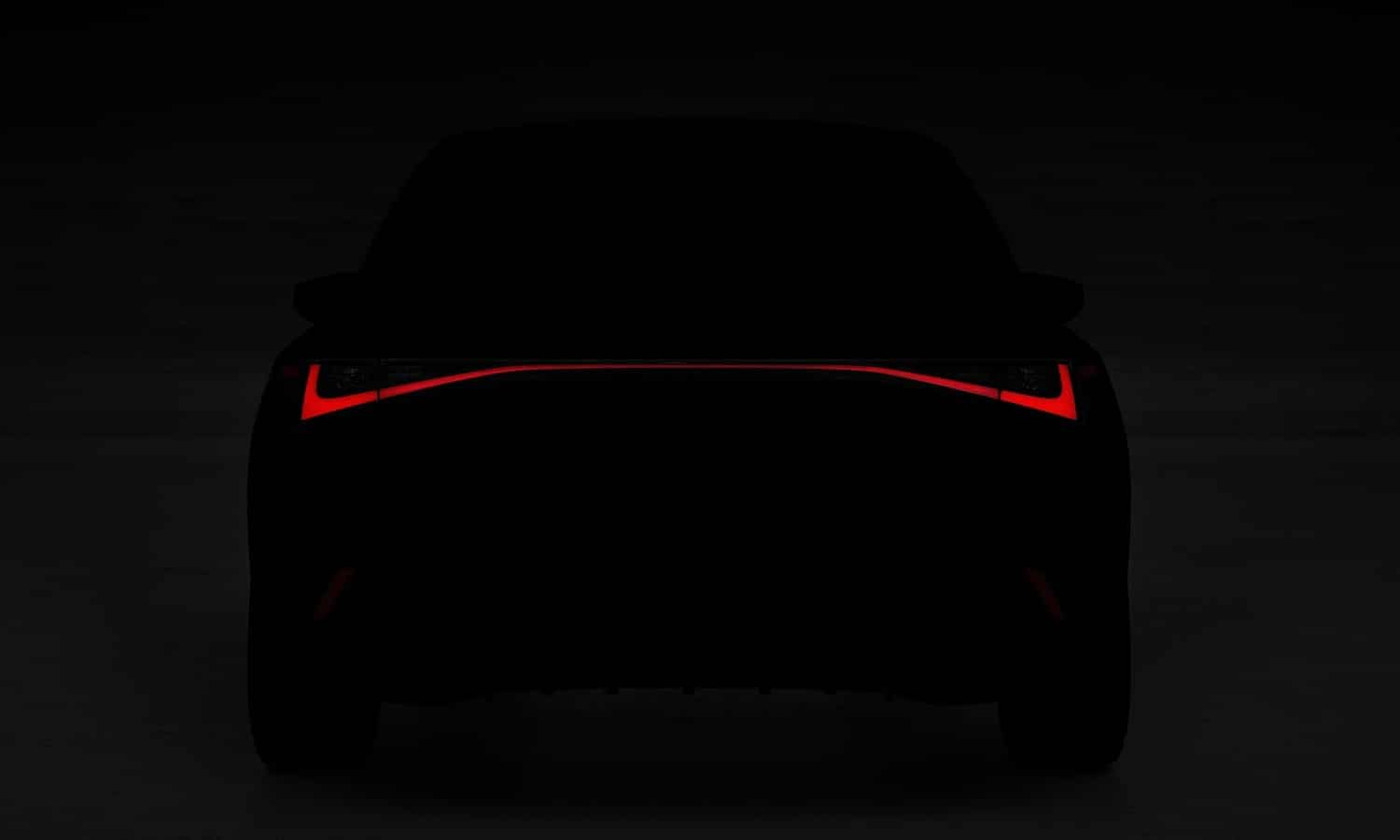 Lexus IS 2021 rear teaser
