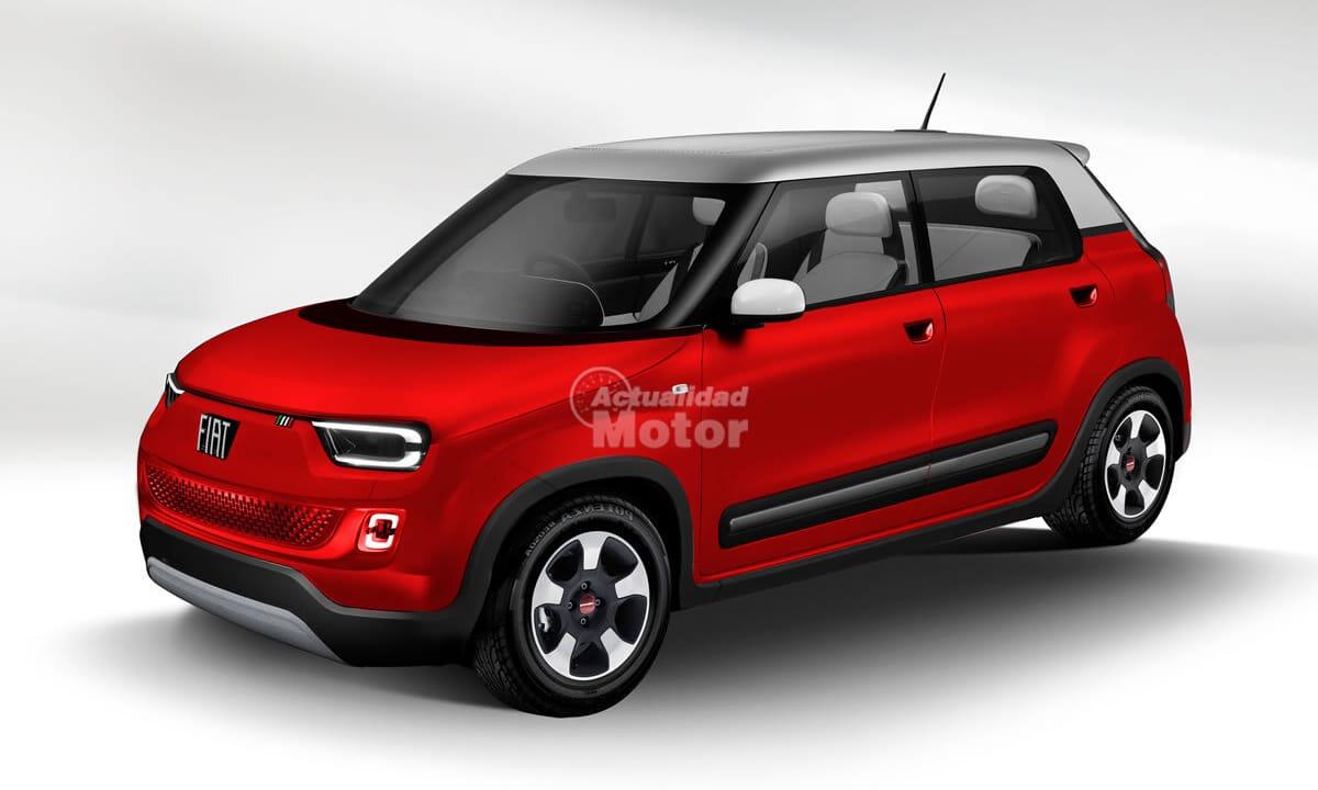 Fiat Panda eléctrico recreación