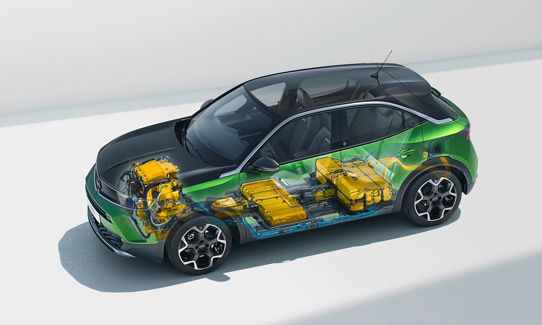 Opel Mokka eléctrico baterías