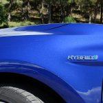 Toyota Hybrid inscripción