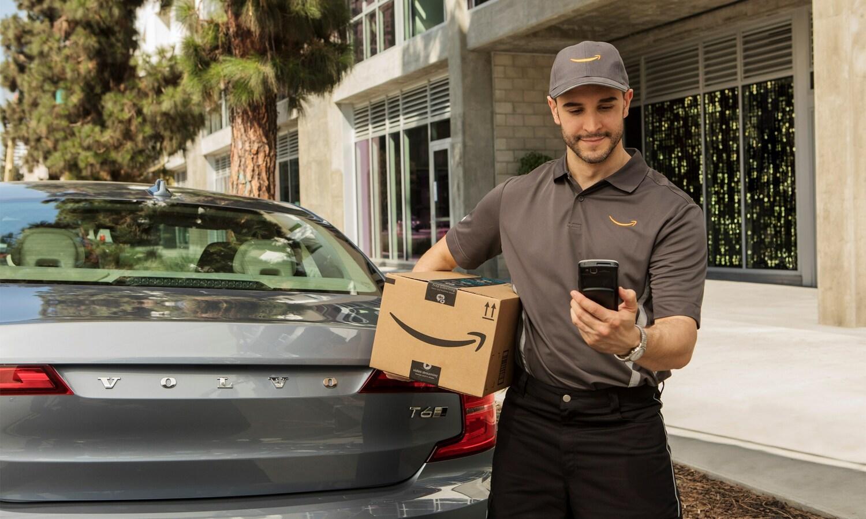 Amazon puede dejar paquetes en modelos de Volvo